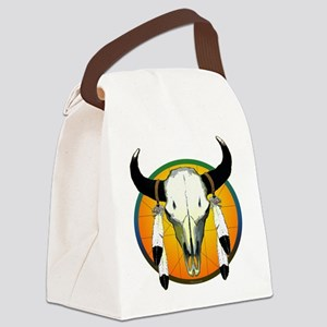 buffalo skull Canvas Lunch Bag