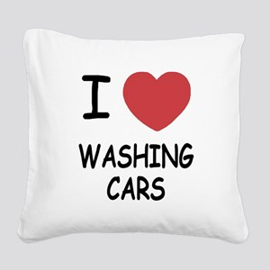 WASHING_CARS Square Canvas Pillow