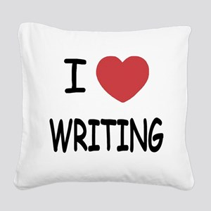 WRITING Square Canvas Pillow