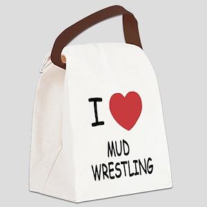 MUD_WRESTLING Canvas Lunch Bag