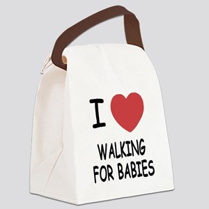 WALKING_FOR_BABIES Canvas Lunch Bag