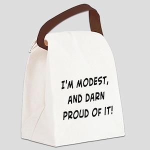 modestanddarnproud Canvas Lunch Bag