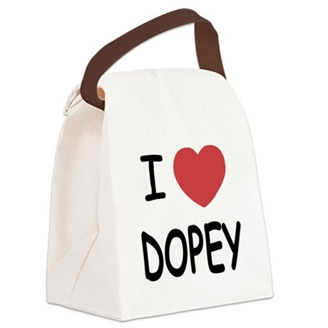 DOPEY.png Canvas Lunch Bag