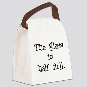 theglassishalffull Canvas Lunch Bag