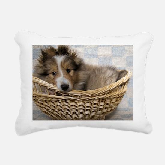 Sheltie Puppy Rectangular Canvas Pillow