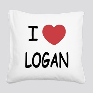 LOGAN Square Canvas Pillow