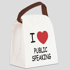PUBLICSPEAKING Canvas Lunch Bag