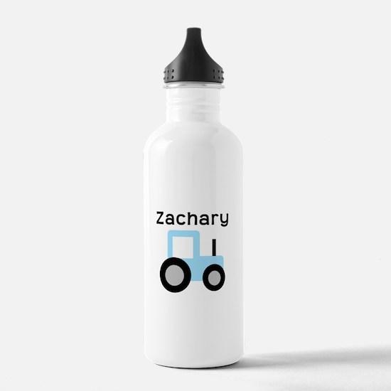 Zachary - Light Blue Tractor Water Bottle