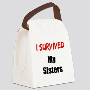 I survived MY SISTERS Canvas Lunch Bag