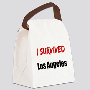 I survived LOS ANGELES Canvas Lunch Bag