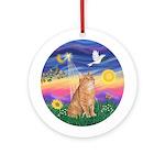 Twilight - Orange Tabby Cat Ornament (Round)