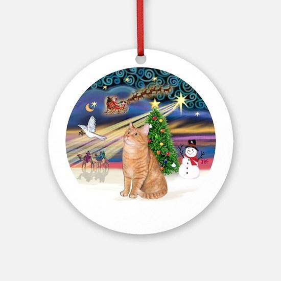 Christmas Magic - Orange Tabby cat Orament