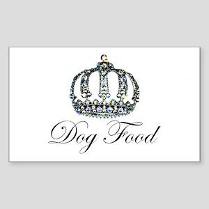 Tiara Dog Food Sticker (Rectangle)
