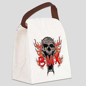 BMX skull 2 Canvas Lunch Bag