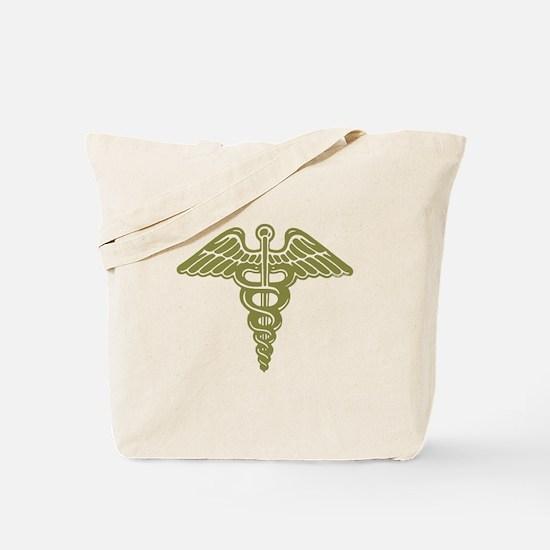 Medic: Cadaceus (OD) Tote Bag