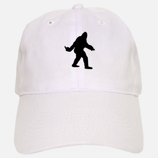Bigfoot Flips The Bird Baseball Baseball Cap