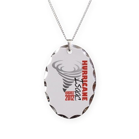 Hurricane Isaac 2012 Necklace Oval Charm