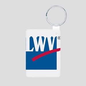 LWV Logo Aluminum Photo Keychain