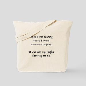 Running Thigh Cheer Tote Bag