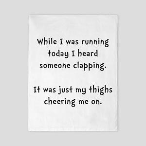 Running Thigh Cheer Twin Duvet