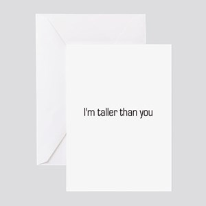 I'm taller than you Greeting Cards (Pk of 10)