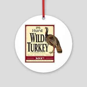 Hunt Wild Turkey Ornament (Round)