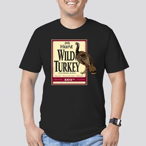 Hunt Wild Turkey Men's Fitted T-Shirt (dark)