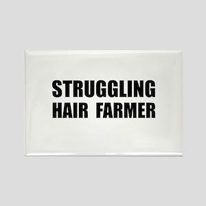 Struggling Hair Farmer Rectangle Magnet (10 pack)
