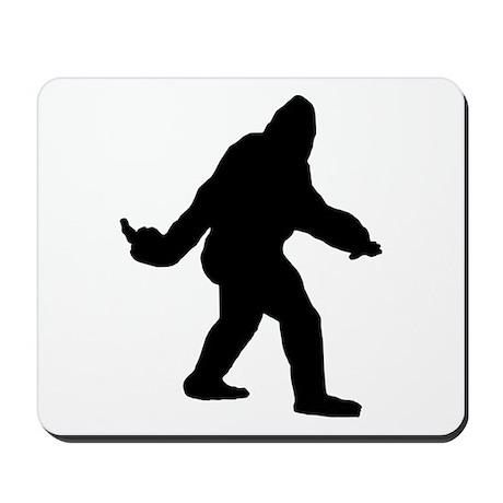 Bigfoot Flips The Bird Mousepad
