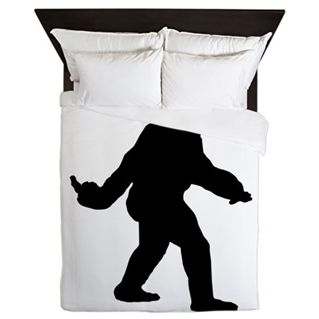 Bigfoot Flips The Bird Queen Duvet