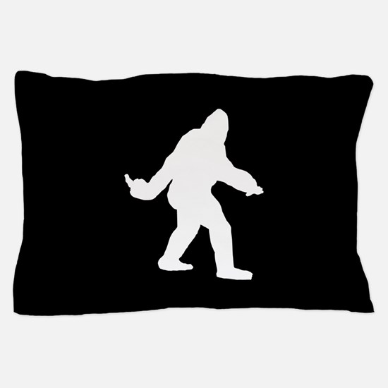 Bigfoot Flips The Bird Pillow Case