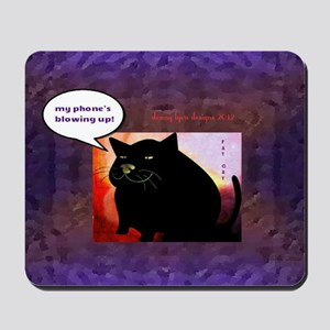 Fat Cat Phone Mousepad