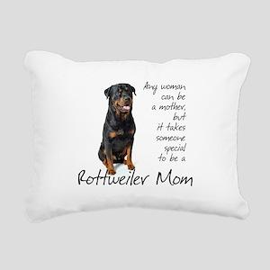 Rottie Mom Rectangular Canvas Pillow