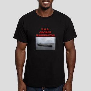 george washington Men's Fitted T-Shirt (dark)