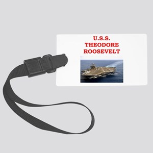 theodore roosevelt Large Luggage Tag