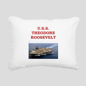 theodore roosevelt Rectangular Canvas Pillow