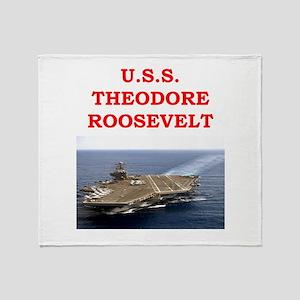 theodore roosevelt Throw Blanket