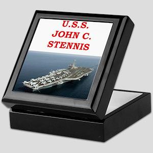 john c stennis Keepsake Box