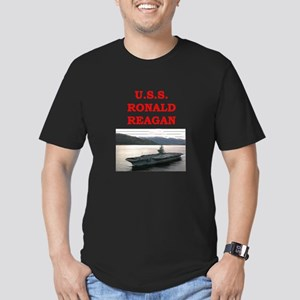 ronald reagan Men's Fitted T-Shirt (dark)