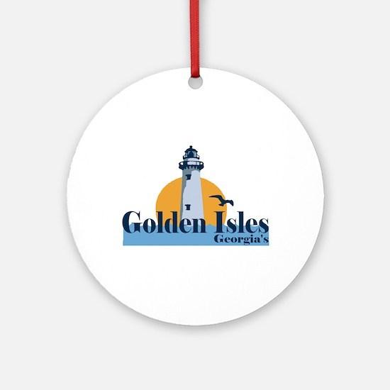 Golden Isles GA - Lighthouse Design. Ornament (Rou