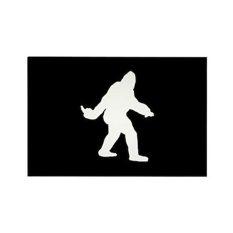 Bigfoot Flips The Bird Rectangle Magnet (10 pack)