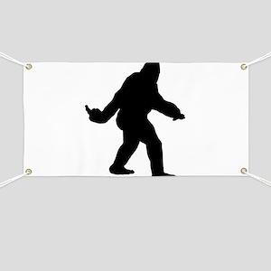 Bigfoot Flips The Bird Banner