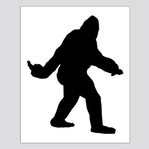 Bigfoot Flips The Bird Small Poster