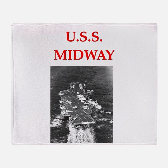 MIDWAY.png Throw Blanket