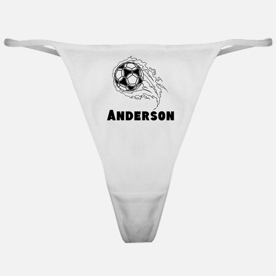 Personalized Soccer Classic Thong