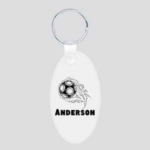 Personalized Soccer Aluminum Oval Keychain