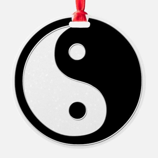 Black Yin Yang Ornament