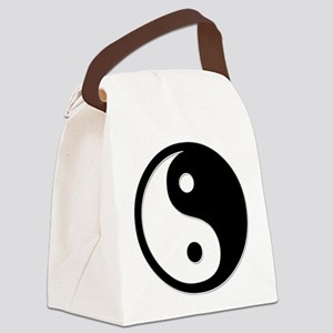 Black Yin Yang Canvas Lunch Bag