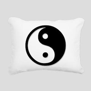 Black Yin Yang Rectangular Canvas Pillow