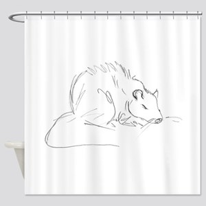 Sketch Rat Shower Curtain